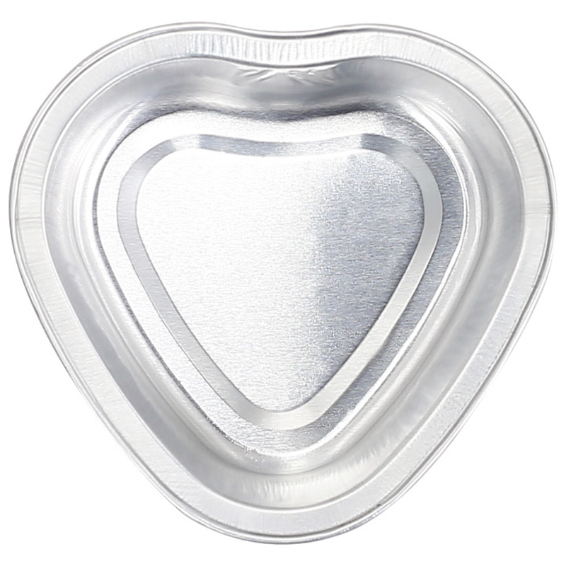 Bluezoo 10Pcs/Set Rose Heart-Shaped Aluminum Foil Melted Wax Bowl Hair Removal Waxy Bean Container Hot Melt Wax Bean Tool