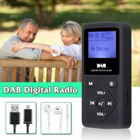 Portable 1.8inch Digital Radio Receiver Bluetooth MP3 Player Support TF Card Outdoor Calling hands free With Earphone DAB Radio