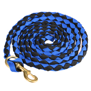 Image 2 - Braided Horse Rope Horse Leading Rope Braid Horse Halter with Brass Snap 2.0M / 2.5M / 3.0M