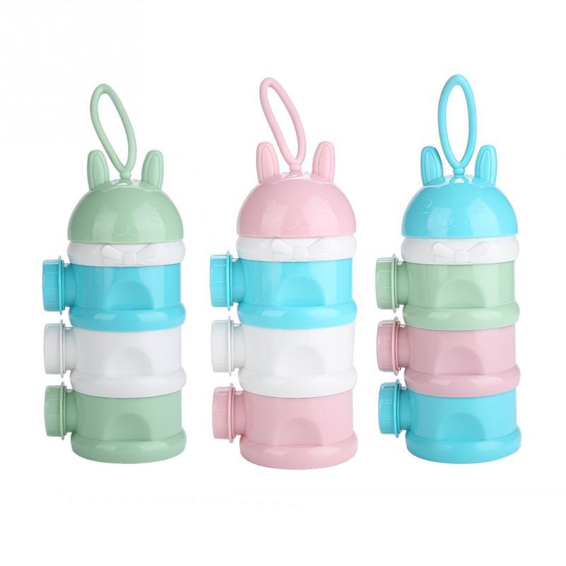 Flaschenzuführung Mutter & Kinder Neue Ankunft Tragbare Baby Infant Feeding Milchpulver Flasche Container 4 Schichten Grid Box Zufällige Farbe Reise Aufbewahrungsbox Produkte