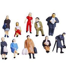 Новинка 100 шт 1/150 окрашенная Модель поезда Люди Цифры масштаб красочные миниатюры микро Пейзаж украшения для мужчин женщин и детей Новинка