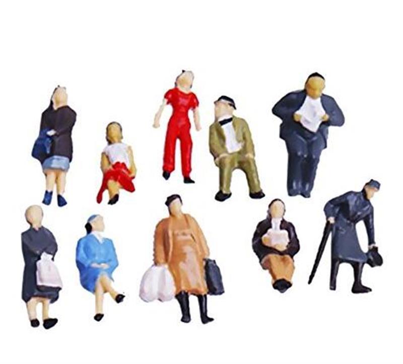 New 100 Pcs 1/150 Painted Model Train People Figures Scale Colorful Miniatures Micro Landscape Decoration Men Women Children New
