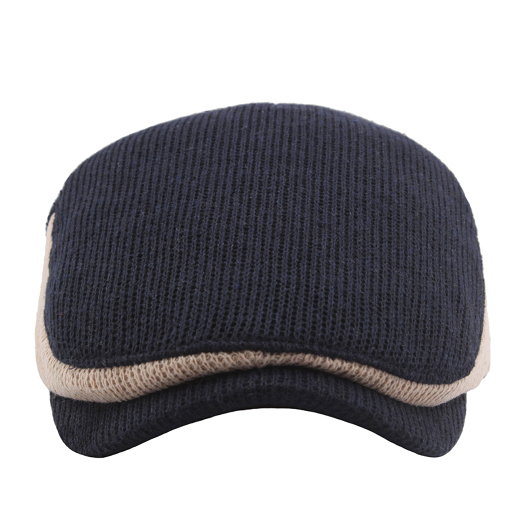 338399919ee Knitted Vintage Wool Beret Men Women Hats Winter Spring Warm Flat Cap Casual  Patchwork Outdoor French Hat Female Baret Caps L0-in Berets from Apparel ...