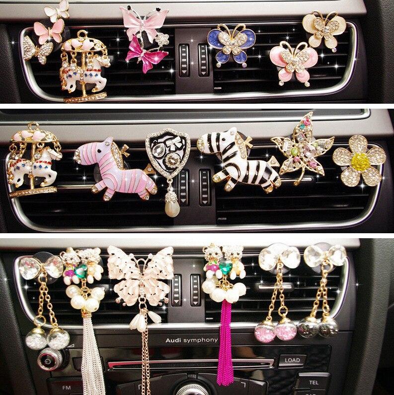 Fragrance Diffuser Outlet-Perfume-Clip Car-Decor Car-Air-Freshener Air-Conditioning Butterflies