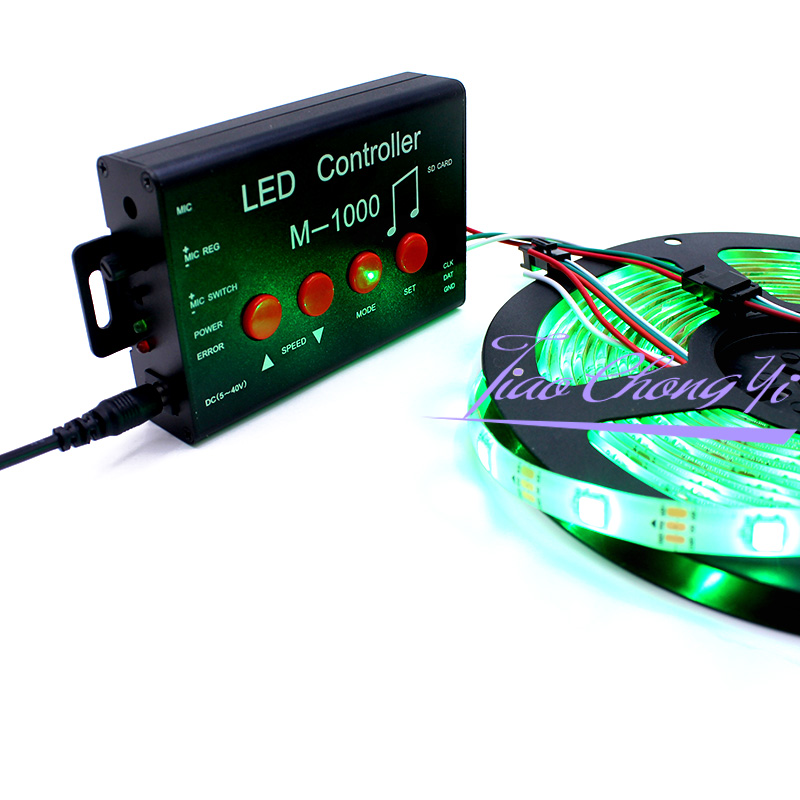 M 1000 LED Controller, Led Programable Music Controller 2048 Pixel for WS2812B WS2811 WS2801 SK6812 led strip lighting - 4