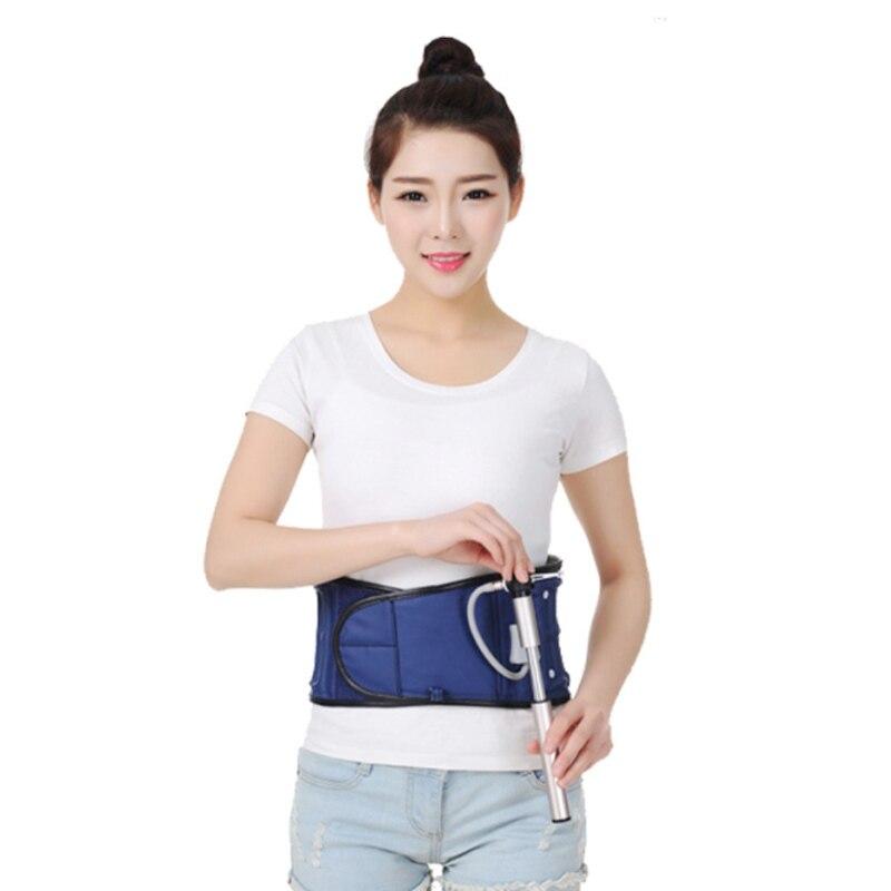 Protecteur lombaire orthèse de Massage taille tension musculaire bande de soutien fixe dos Posture correcteur ceinture de Traction gonflable