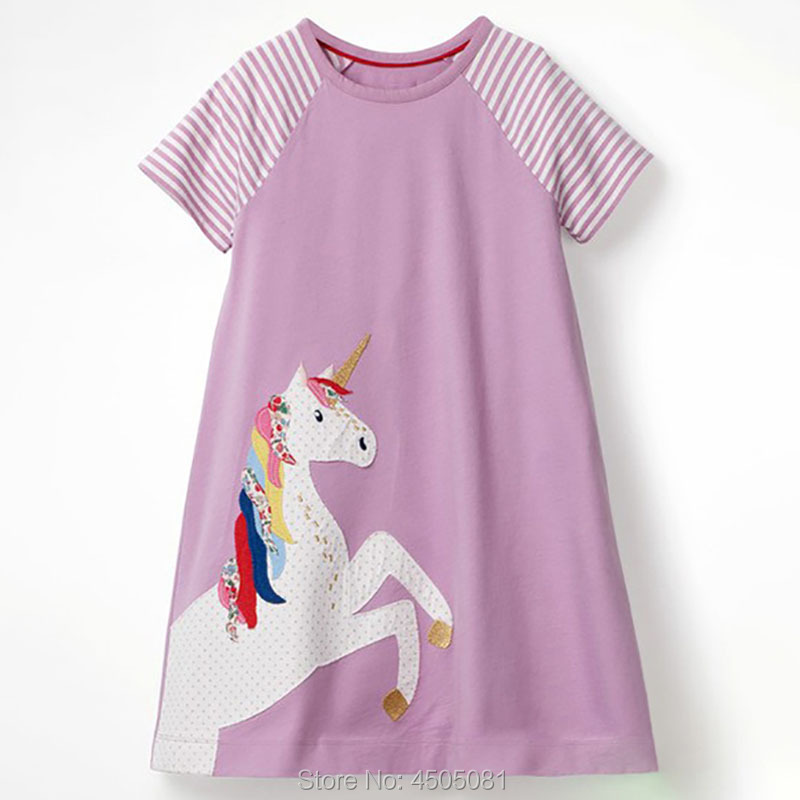 b0f87941f2 Summer Baby Girl Clothes Quality 100% Combed Cotton Kids Dress Brand New  2019 Children Clothing