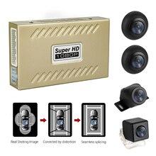 360 Degree waterproof seamless Bird View Panoramic System 4 Camera Car DVR Recording Parking Rear View Cam W/Shock Sensor цена 2017