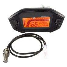 Motorrad Digital Kilometerzähler Tachometer KMH MPH 14000RPM Getriebe Schmutz Motorrad 1,2,4 Zylinder