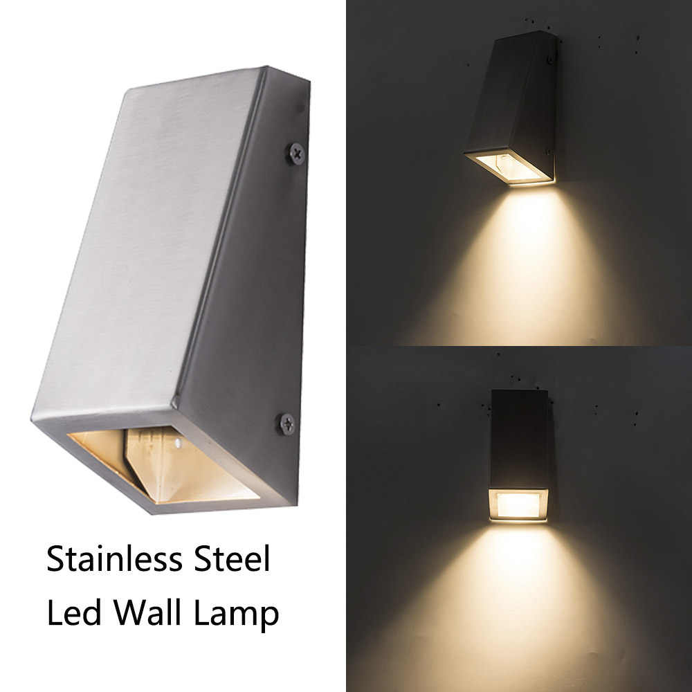 Hot Sell Led Wall Outdoor Light  304 stainless steel down light sconce wall Lamps Decorative lighting Porch lamps with GU10 bulb