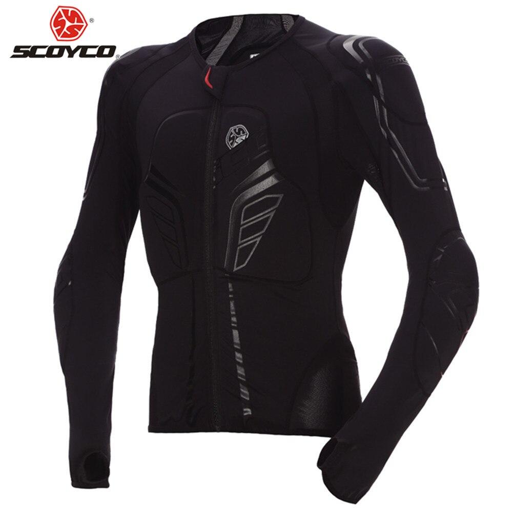 SCOYCO CE Approuvé gilet pare-balles Moto Protection Motocross Retour Équipement Vêtements Moto gilet croisé coque de Protection Armure