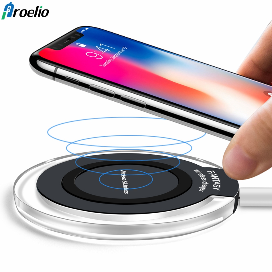 qi wireless charger for samsung galaxy s9 s8 plus s7 s6. Black Bedroom Furniture Sets. Home Design Ideas