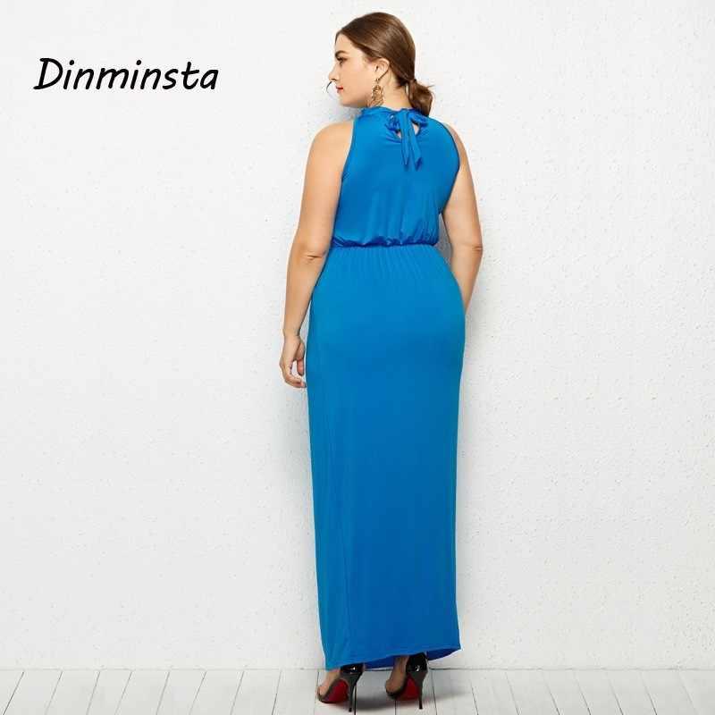 cc79f9b0429fd Dinminsta Women Plus Size Dresses Lady Large Party Maxi Dress New Spring  Sleeveless High Waist Female Long Casual Frocks Design