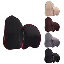 Professional 2 Piece/Set Car Headrest Lumbar Set Pillow Seat Headrest Car Memory Foam Auto Accessories