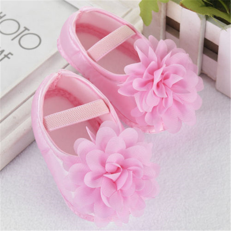 New Baby Girls Princess Crib Shoes Children Kids Floral Patchwork Crib Shoes Soft Sole Anti-slip Prewalkers Causal Shoes 0-18M