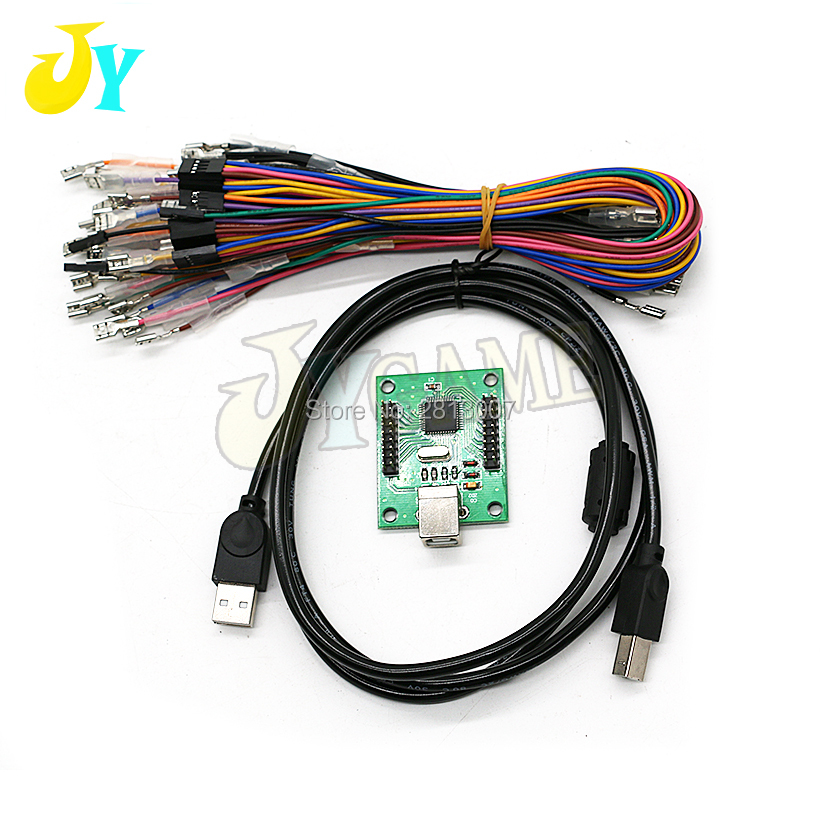 USB to Jamma PC PS3 Arcade USB controller Interface 2 player USB Encoder MAME Multicade Keyboard Arcade Joystick PCB