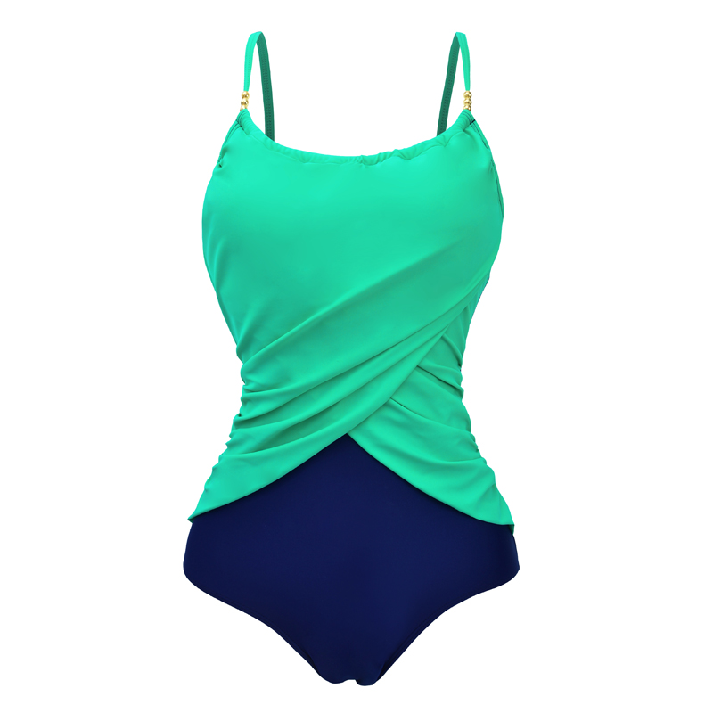 2019 Bather One Piece Swimsuit Female High Neck Swimwear Women Plus Size Bathing Suit May Beach Push Up Monokini Swimming Suits plus size swimwear women indoor swimsuit 2018 may beach sexy tankini dress bathing suit push up swimming suits bikini new bather