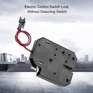 DC 12V Electric Control Latch Drawer Switch Lock Electromagnetic Lock Without Detection Switch cerradura inteligente
