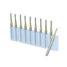 Carbide Wood Cutting Machine 1.0mm-2.0mm 10Pcs Left-Hand Corn Milling Cutter Cnc Router Tool Metal