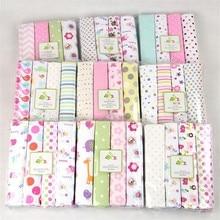 4 Pcs/Lot Baby Soft Blankets Newborn Kids Cotton Flannel Rec