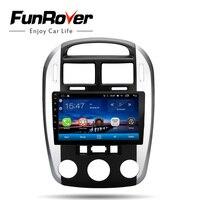 Funrover 2 din Автомобильный Радио Мультимедийный видео плеер навигация gps Android 8,0 для KIA cerato 2005 2016 головное устройство gps магнитофон