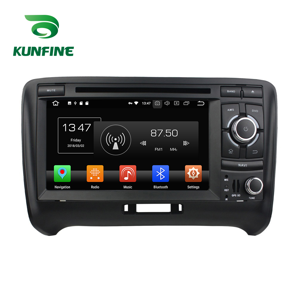 KUNFINE Quad Core 2GB RAM Android 8.1 Car DVD GPS Navigation Multimedia Player Car Stereo For Audi TT 2006-2013 Radio headunit