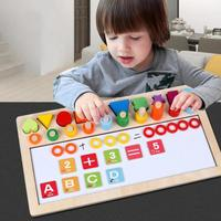 Preschool Wooden Montessori Toys Early Education Teaching Aids Math Toys For Children Count Geometric Shape Cognition Math Toys