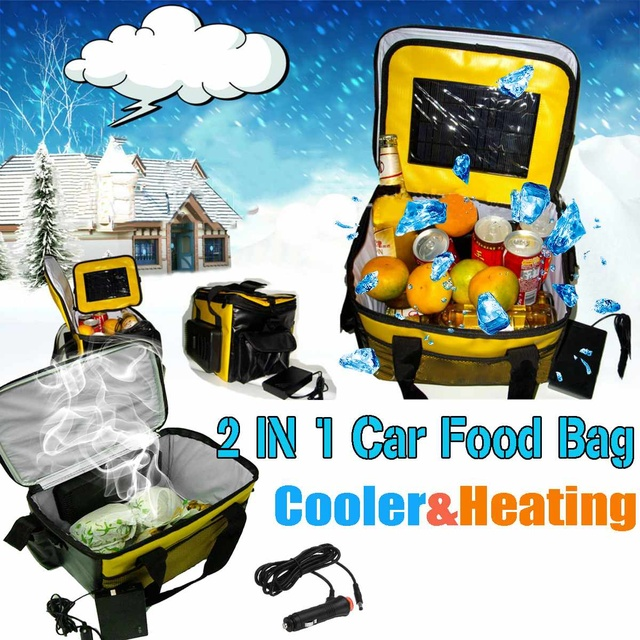 20l Portable Electric Cooler Heated Lunch Box 12v Car Bento Boxes