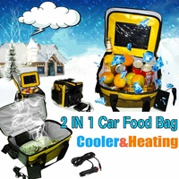 20L Portable Electric Cooler/Heated Lunch Box 12V Car Bento Boxes Food Warmer Storage Bag Container for Travel Office Home Gift