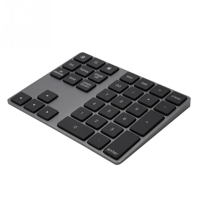 e3d74c8e985 Black 34 Keys Mini Numpad Wireless Bluetooth Numeric Keypad For Apple PC  keyboard Numpads Keypads 2018 new style