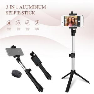 Image 5 - Mini Selfie Stick Extendable Handheld Fold Self portrait Bluetooth Holder Lightweight Travel Hiking Devices With Tripod Mount