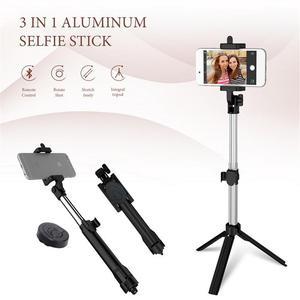 Image 5 - Mini Selfie Stick มือถือพับภาพบลูทูธผู้ถือน้ำหนักเบาเดินป่าอุปกรณ์ขาตั้งกล้อง