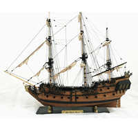 3D Wooden Black Pearl Sailboat Ship Kit 1: 96 Scale Boat Model Home Decoration Model Building Kits Learning Toys Children Gifts
