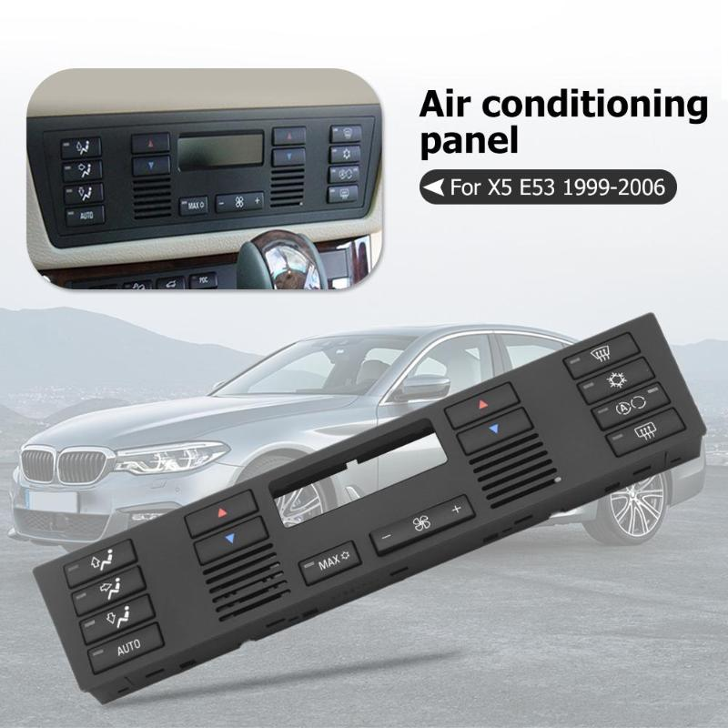 Air Conditioning Climate Control Panel Set Black For BMW 5 Series E39 1996 2003 X5 E53