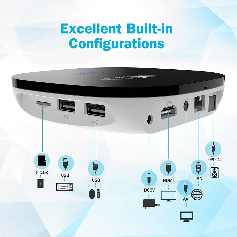 TV BOX Smart 4K Ultra HD 2G 16G pour Android 8.0 film WIFI Google Cast lecteur multimédia décodeur lecteur multimédia 100Mbps décodeur