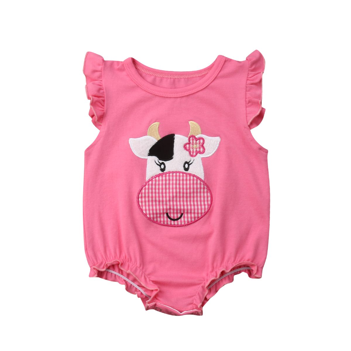 0-18 M Leuke Pasgeboren Baby Meisje Bloemen Crow Print Katoen Romper Jumpsuit Outfits Zomer Kleding Structurele Handicaps