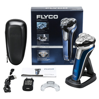 FLYCO FS375EU Electric Rechargeable Shaver Wet Dry Rotary Razor for Men