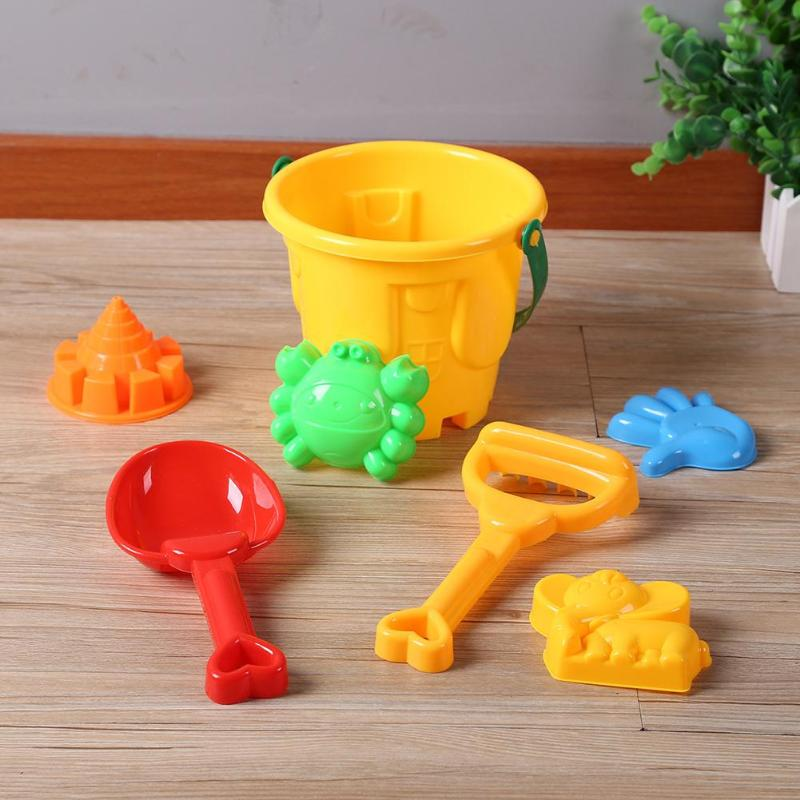 7pcs/set Baby Kids Summer Playing Water Beach Seaside Sand Play Toys Bucket Shovel Funny Pretended Play Toys For Baby KIds Gifts