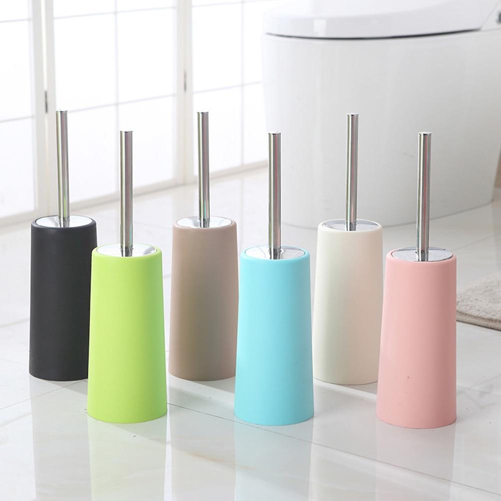 Home Bathroom Cleaning Holders Hotel Easy Clean Toilet With Base Antibacterial Tool Toilet Brush Stainless Steel Portable Corner