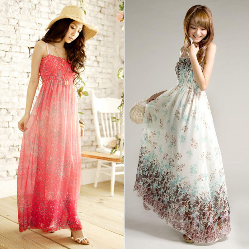Hot Women's Maxi Boho Dress Floral Summer Beach Fashion Evening Party Long Sundress