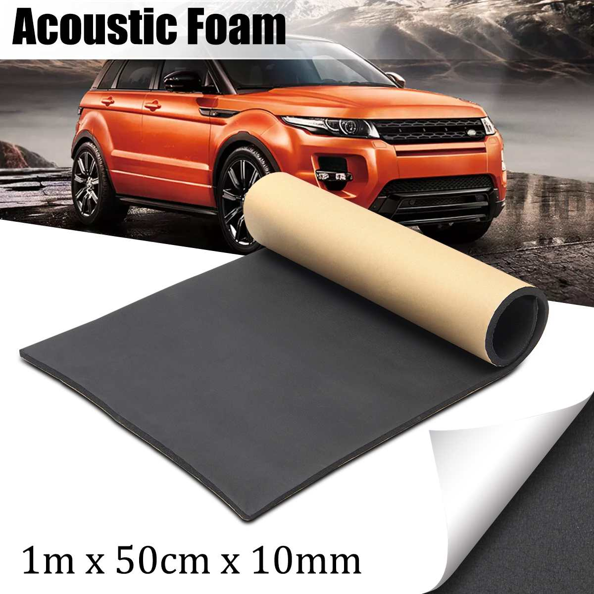 Car Van Sound Proofing Insulation Deadening Closed Cell Foam 30*50cm Auto Interior exterior Accessories 1m x 50cm x 10mm 10mm|Sound & Heat Insulation Cotton| |  - title=
