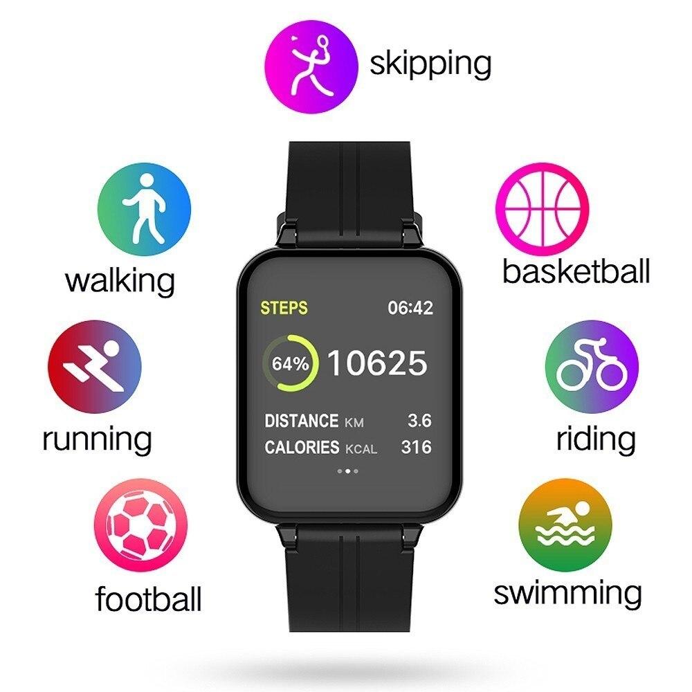B57 Women Men Smart watches Waterproof Sports For apple phone Smartwatch Heart Rate font b Monitor