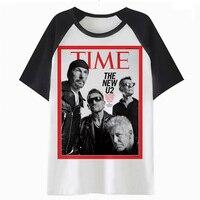 U2 футболка уличная мужской harajuku футболка с воротником и Забавные футболки футболка в стиле «хип-хоп» PF3047