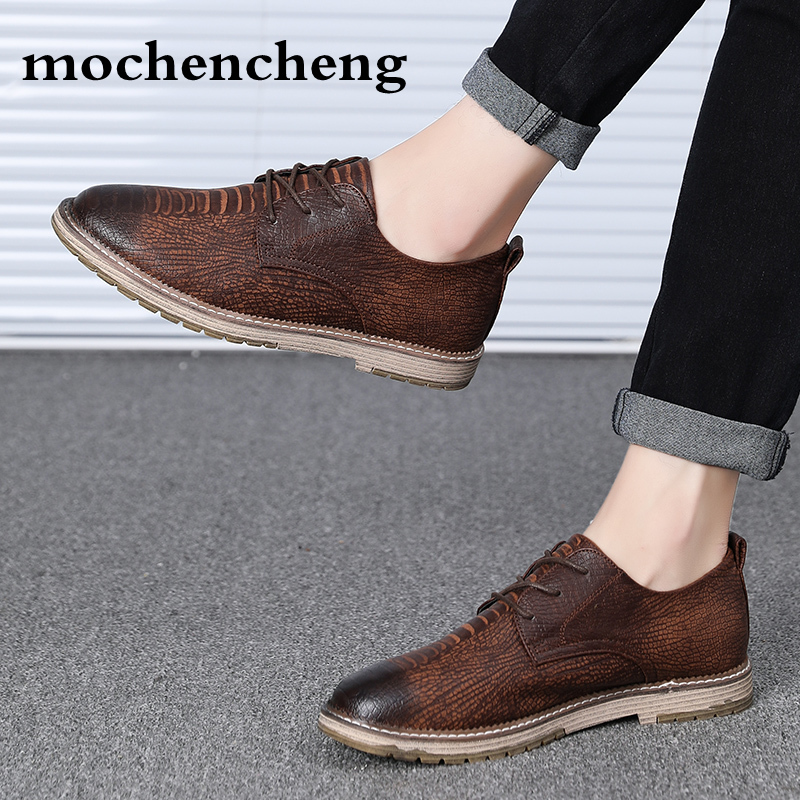 Handmade Men Dress Loafers Microfiber Leather Formal Business Oxfords Shoes Leisure Men's Flats for Party