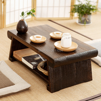 New Multi Folding Wooden Japanese Tea Table Coffee Folding Table For Living Room Furniture Low Modern Minimalist Compact Tatami