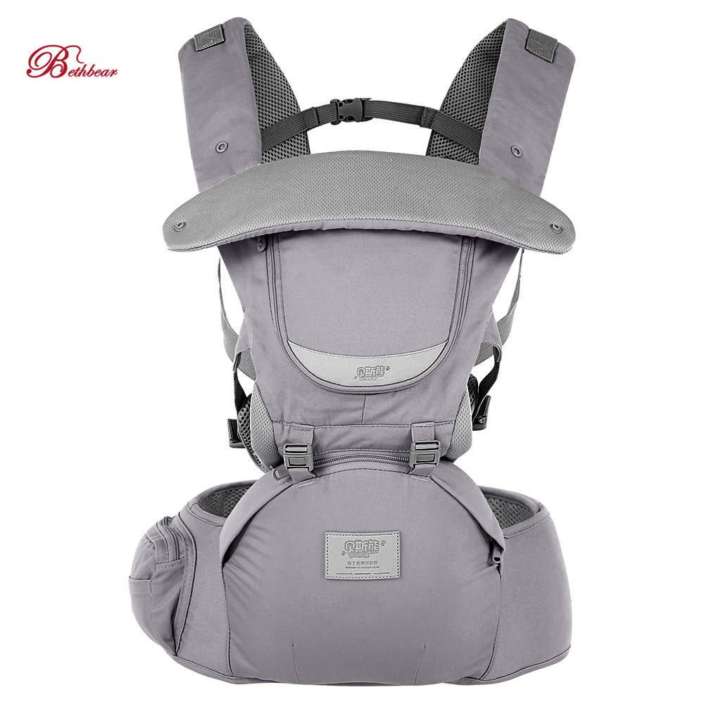 Bethbear 0-36 Months Baby Carrier 3 In 1 Adjustable Hip Seat Newborn Waist Stool Baby Carrier Infant Sling Backpack