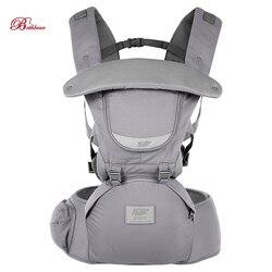Bethbear 0-36 meses portador de bebê 3 em 1 ajustável assento do quadril recém-nascido cintura fezes portador de bebê infantil estilingue mochila
