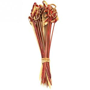 Image 4 - 100 Pcs Creative 13 cm Food Cocktail Sandwich Fork Stick Skewer Bamboo Knot Skewers Cocktail Sticks Canape Buffet Tableware