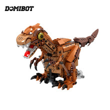 Domibot Electronic Dinosaur RC Smart Robot Mecanum Wheels Obstacle Avoidance Toy Gift(China)