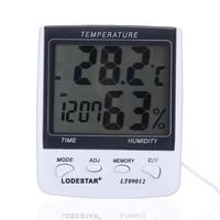 LT09012 Digital Weather Station Thermometer Hygrometer Clock with Probe